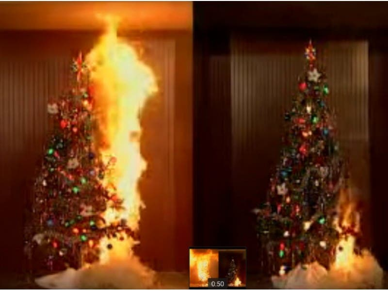 Christmas Tree On Fire.Fire That Killed 7 Reminder Of Live Christmas Tree Hazard