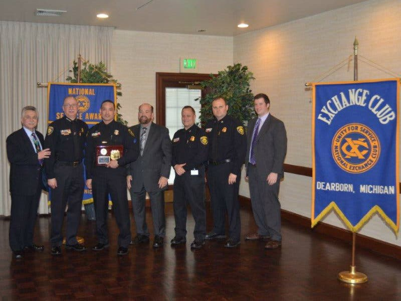Dearborn Police Officers Recognized By Service Clubs
