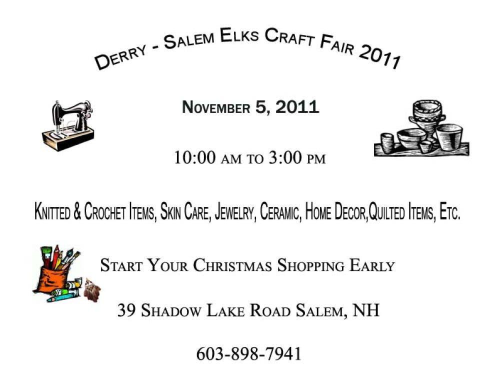 Derry Salem ELks Craft Fair | Salem, NH Patch