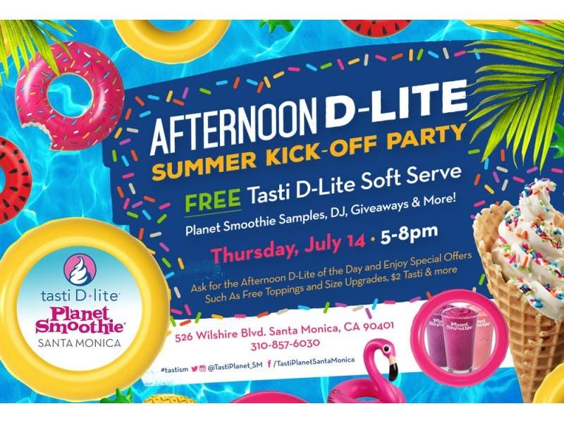 Afternoon D Lite Summer Kick Off Party At Tasti D Lite Santa Monica