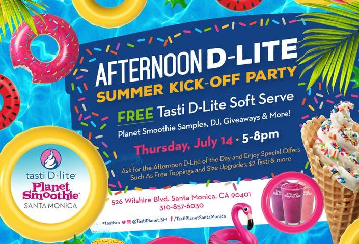 Afternoon D Lite Summer Kick Off Party At Tasti D Lite Santa