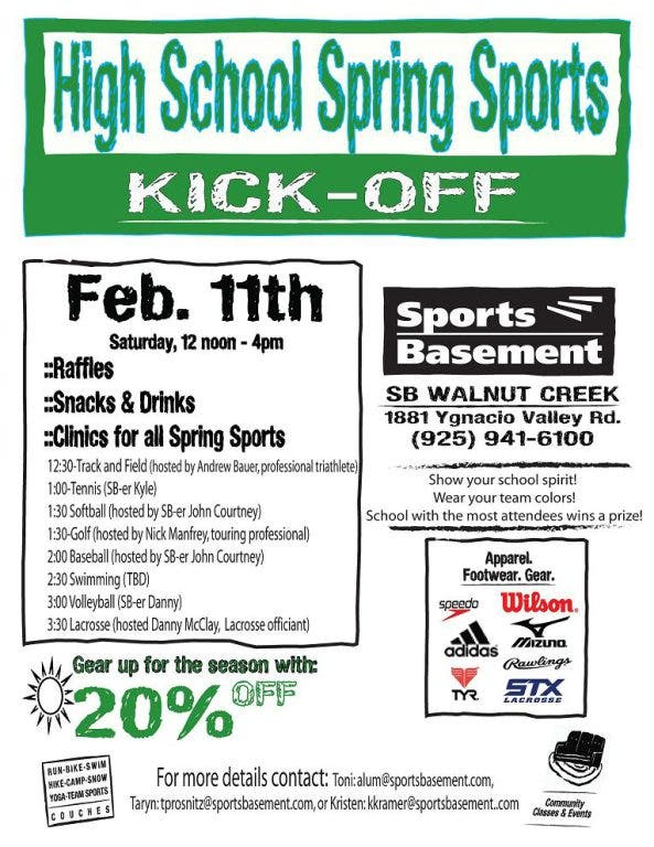 High School Spring Sports Kick Off | Concord, CA Patch