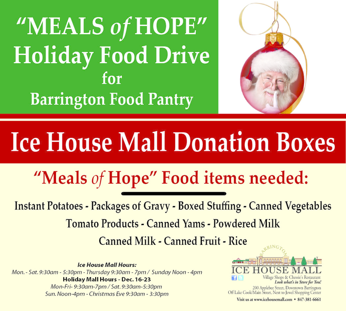 Meals Of Hope for the Barrington Food Pantry at the Ice