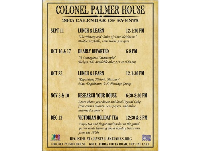 Lunch and Learn Programs at Colonel Palmer House | Crystal