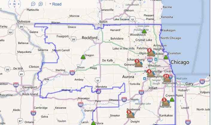 New App, Online Map Available to Track ComEd Outages ... Illinois Power Outage Map on energy map illinois, power outages atlanta area map, tornado map illinois, power transmission lines map illinois, current road conditions illinois, weather map illinois, crime map illinois, power outages in indianapolis indiana, current power outages in illinois, flood map illinois,