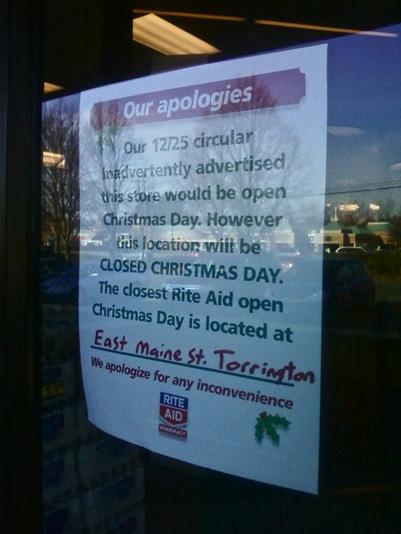 Whats Open and Closed on Christmas Day