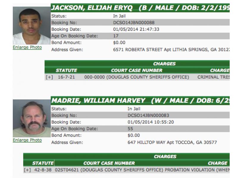 Douglas County Sheriff's Arrests: Criminal Trespass, Failure