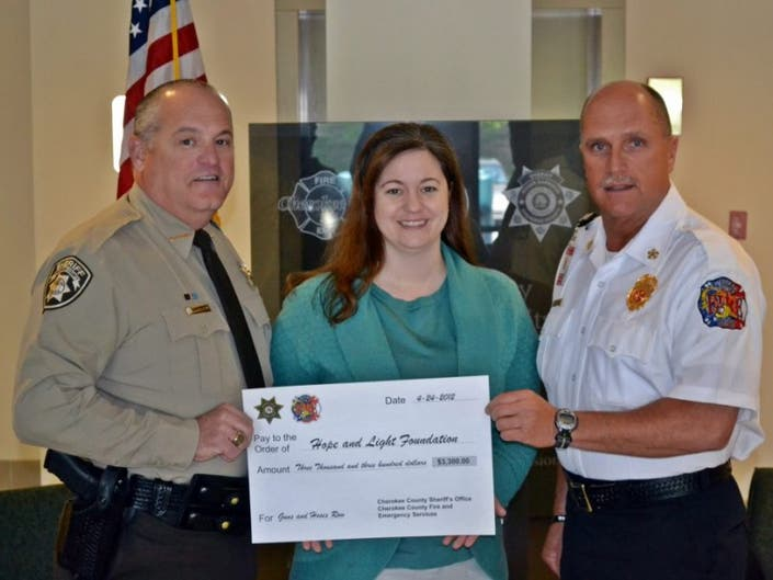 Cherokee Fire, Police Give $3,300 to Charity | Woodstock, GA