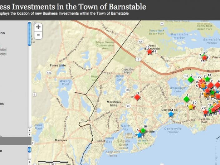 Business Investments Map Shows Growth, Focus | Barnstable