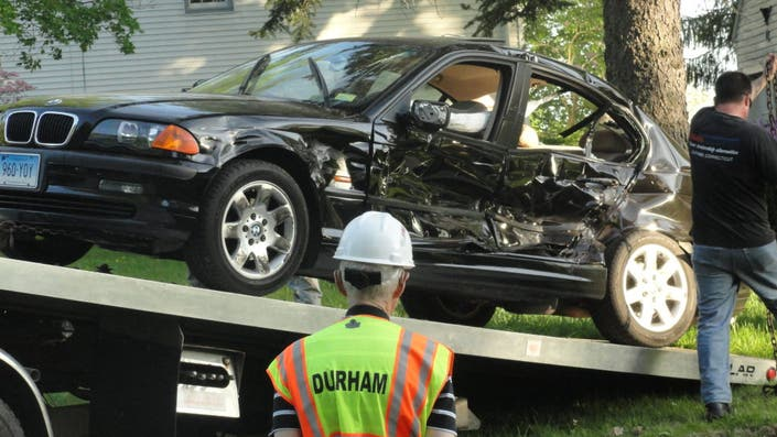 Driver Hurt in Crash Along Route 68 in Durham (Video) | Durham, CT Patch