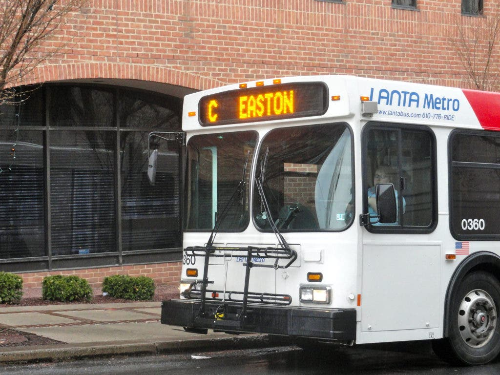 Police City Man Chained Bike Self To LANTA Bus