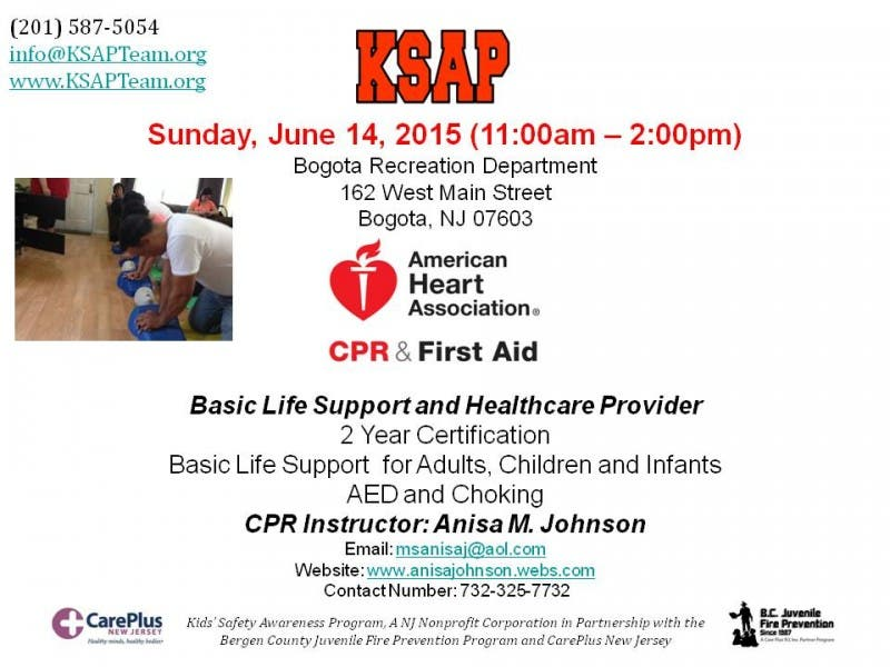 CPR and FIRST AID CLASSES | Teaneck, NJ Patch