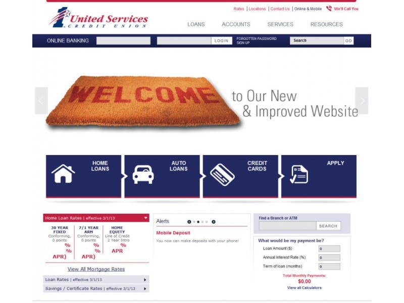 1st United Services Credit Union New Website Online Banking