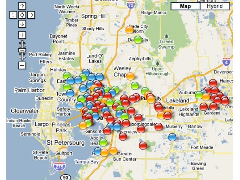 Teco Links To Online Power Outage Map Reports Mid Day Some 60 000
