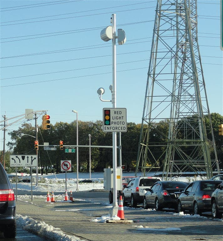 New Red Light Cameras are Up at Three Intersections, But Not