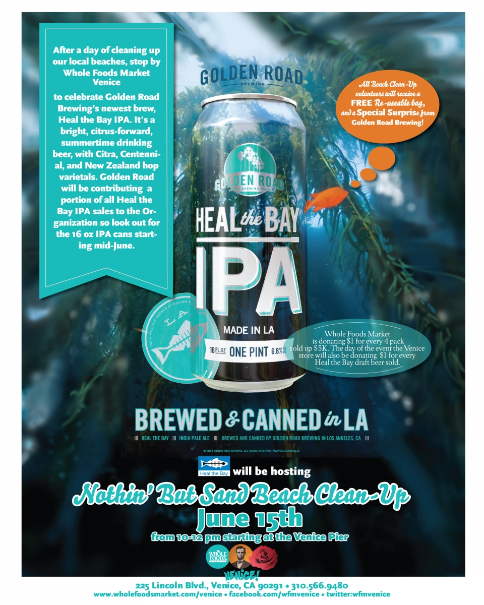 Heal the Bay IPA Kick-Off: Venice Beach Cleanup and Beer