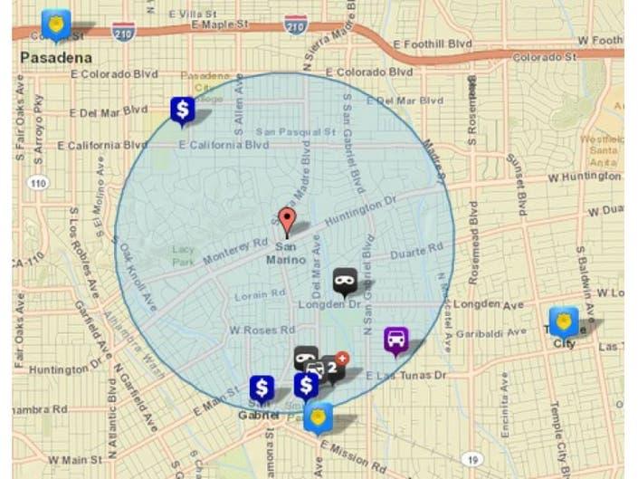San Marino California Map.9 Crimes Reported In San Marino Area Jan 7 To 13 San Marino Ca