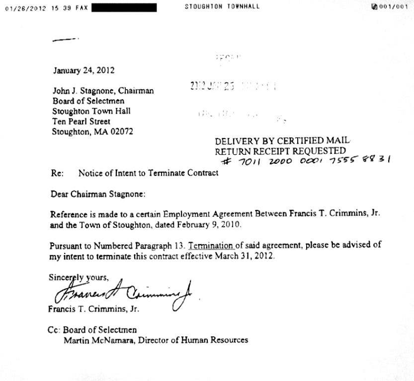 Town Manager\'s Resignation Letter Offers Few Details ...