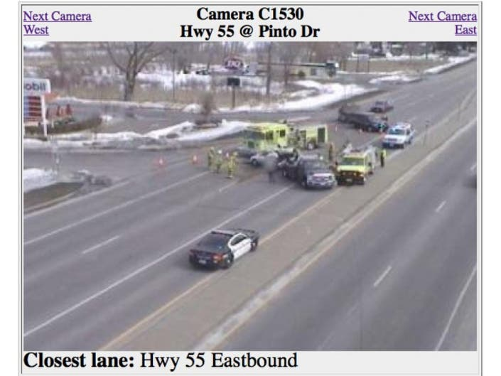 Report: Injury Accident at Hwy  55 and Pinto in Plymouth