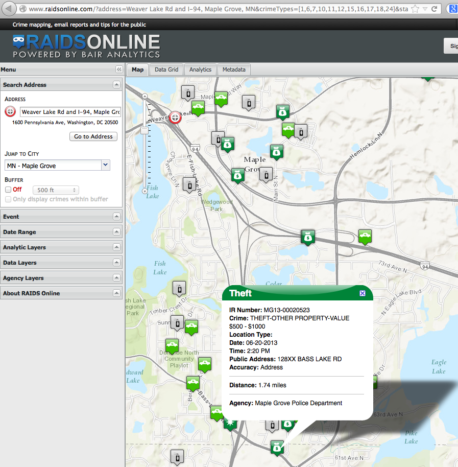 Maple Grove Police: Try Our New Online Crime Map | Maple Grove, MN Patch