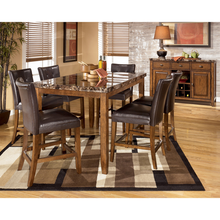 Dining Room Set With Hutch: GORGEOUS 7 Pc (ASHLEY FURNITURE) Dining Room Set And China