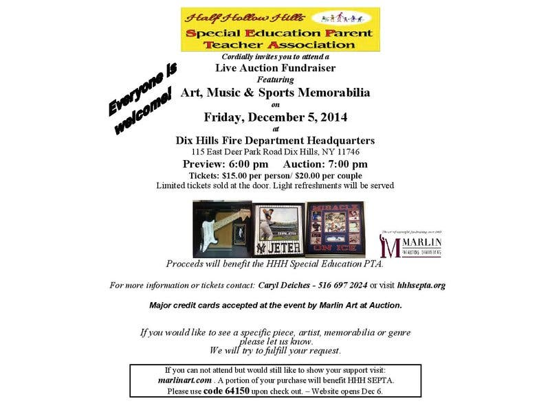 Live Art Music Sports And Memorabilia Auction Half Hollow Hills Ny Patch