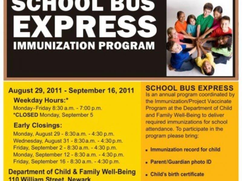 School Bus Express Immunization Project Newark Nj Patch
