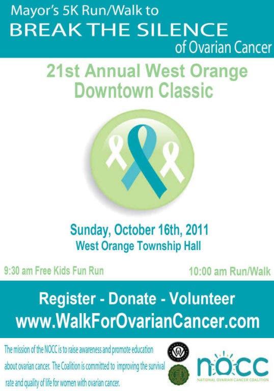 Mayor S 5k Run Walk To Break The Silence Of Ovarian Cancer West Orange Nj Patch