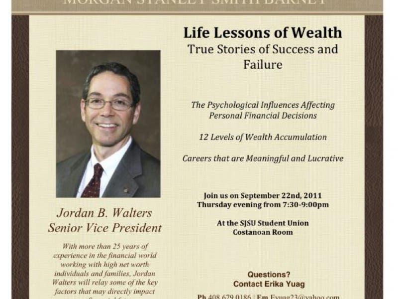 Morgan Stanley Smith Barney: Life Lessons of Wealth | Los Gatos, CA