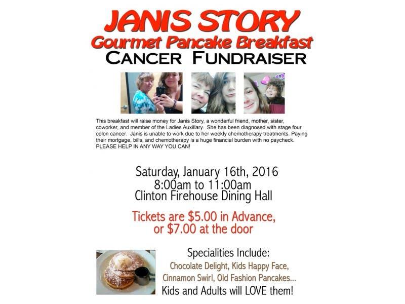 Janis Story Cancer Fundraiser Pancake Breakfast And Raffle Taking