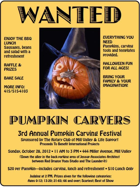 Pumpkin Carving Festival and Contest - Mill Valley Rotary
