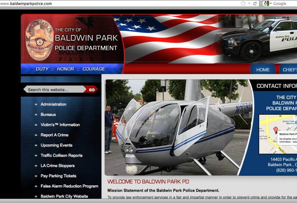 Baldwin Park Police Department Launches New Web Site
