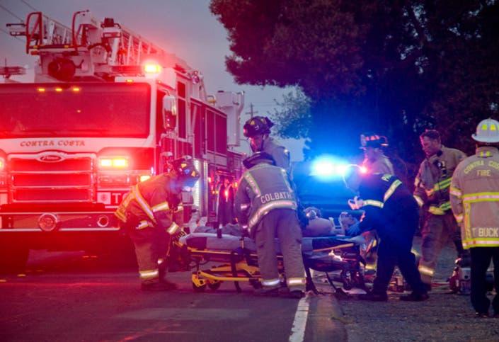 Driver Smashes into Pole