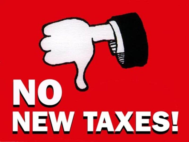 Image result for no tax increases image