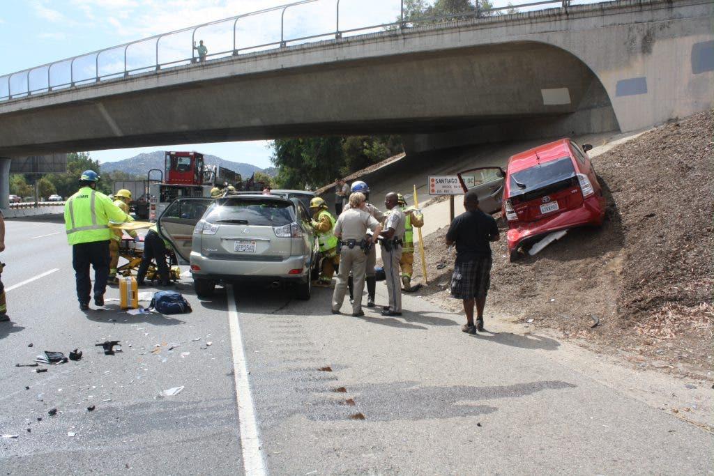 Crash Sends Car up I-15 Embankment in Temecula   Temecula, CA Patch