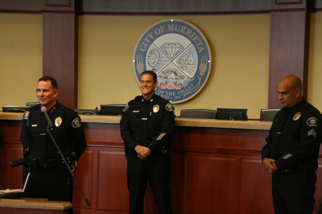 Hadden Sworn In As Murrieta Police Chief Baray S Career Celebrated Murrieta Ca Patch