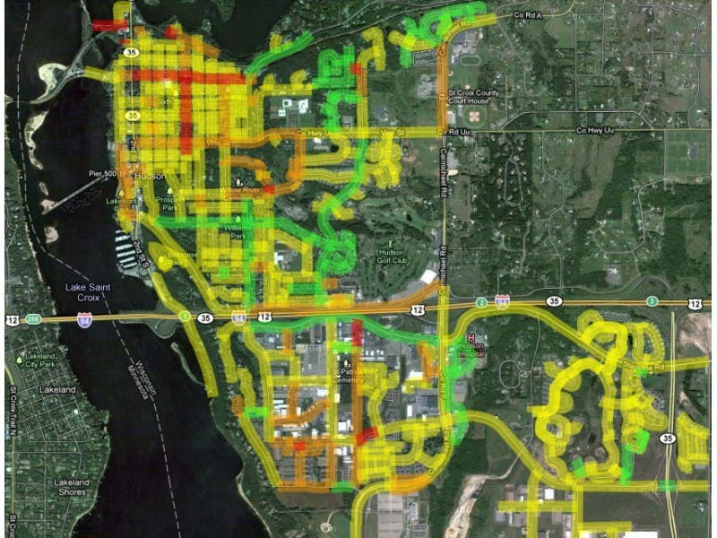 Interactive Map Shows Best Worst Roads In Hudson Hudson Wi Patch