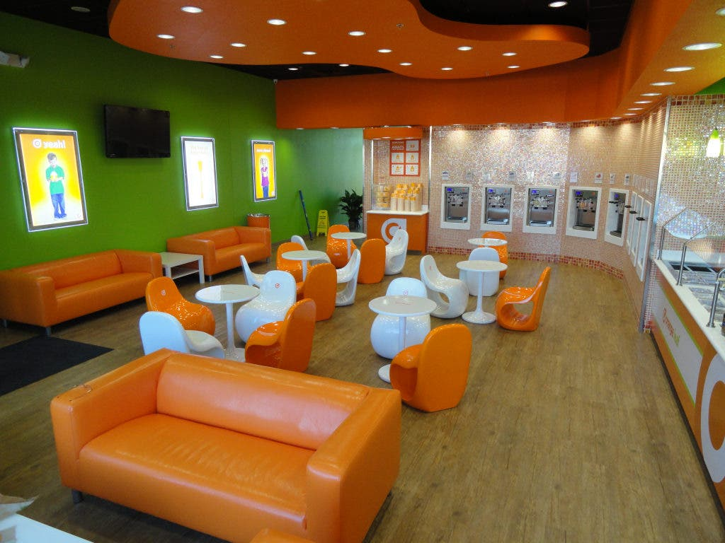 Gentil ... Orange Leaf Yogurt Shop Now Open 5 ...