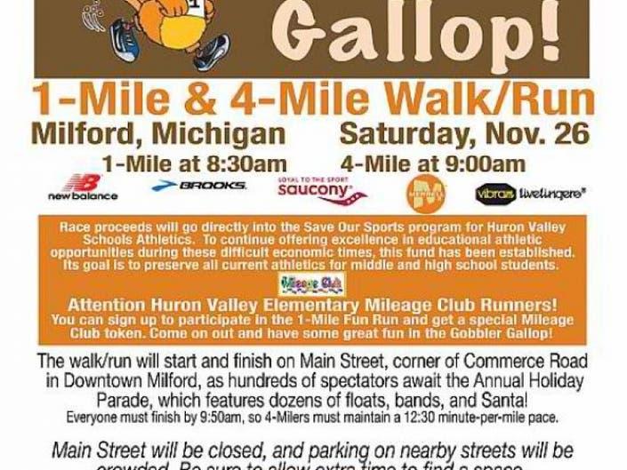 Gobbler Gallop >> Gobbler Gallop White Lake Mi Patch