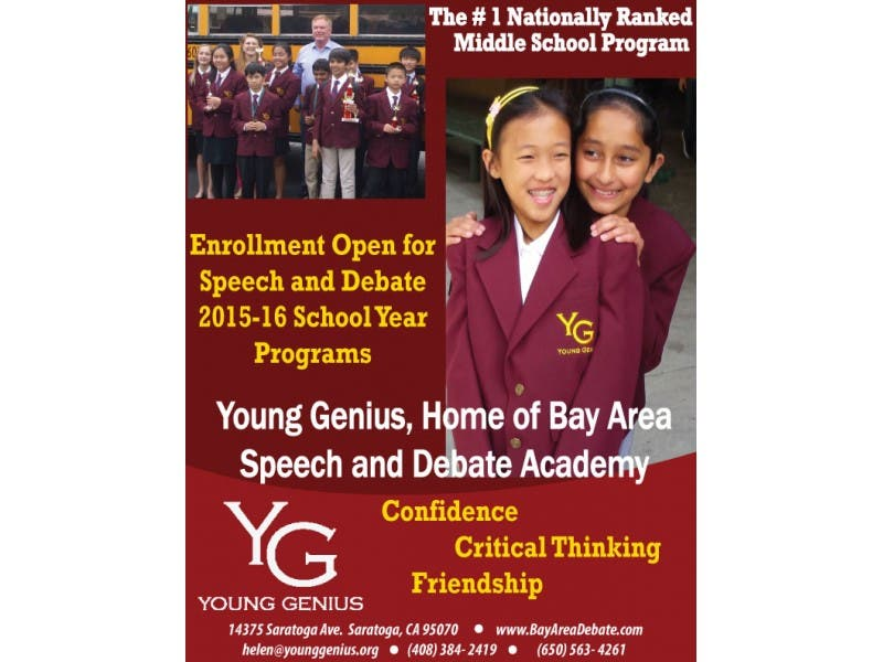 Registration For 2015 2016 School Year Young Genius Speech And