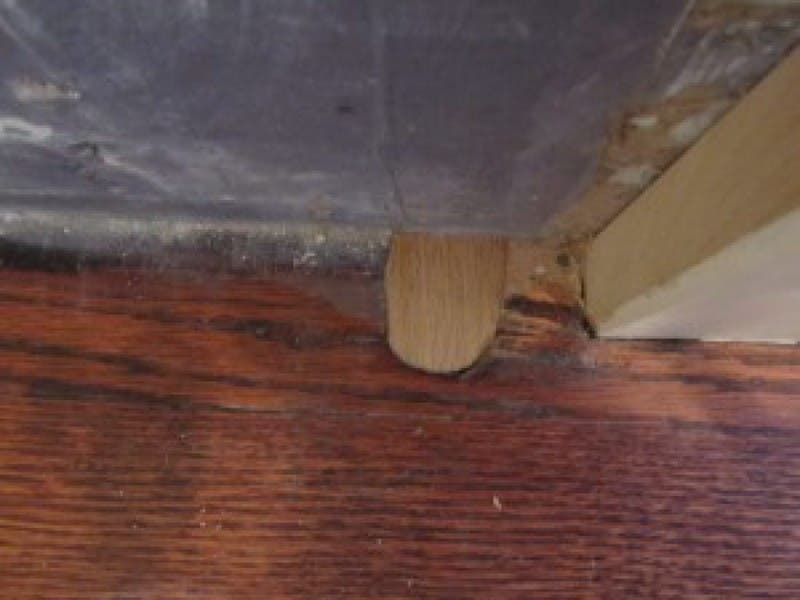 Filling Radiator Pipe Holes In Hardwood Floors 0
