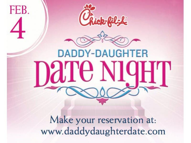 Chick-fil-a daddy daughter date night reservations
