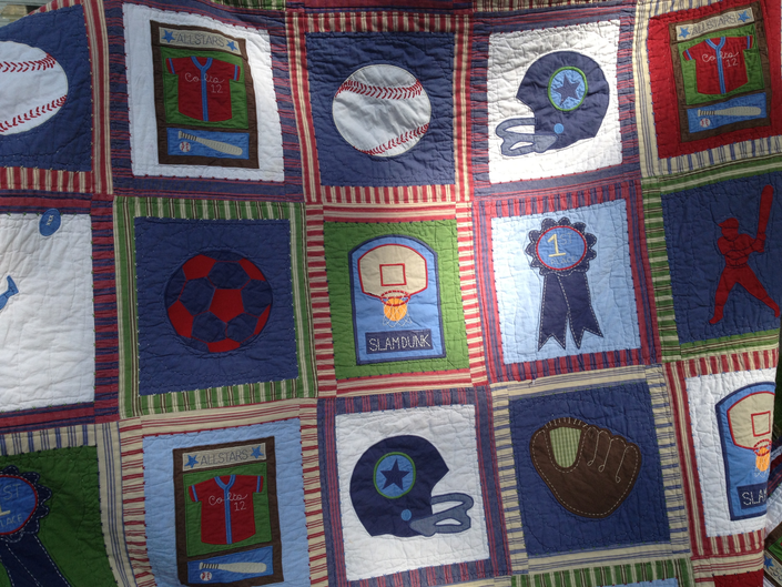 Pottery Barn Boys Twin Sports Quilt Caldwells Nj Patch