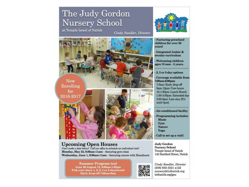 Open Houses At Judy Gordon Nursery School Expanded Hours Ages