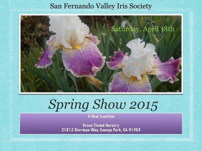 San Fernando Valley Iris Society Spring Show @ Green Thumb
