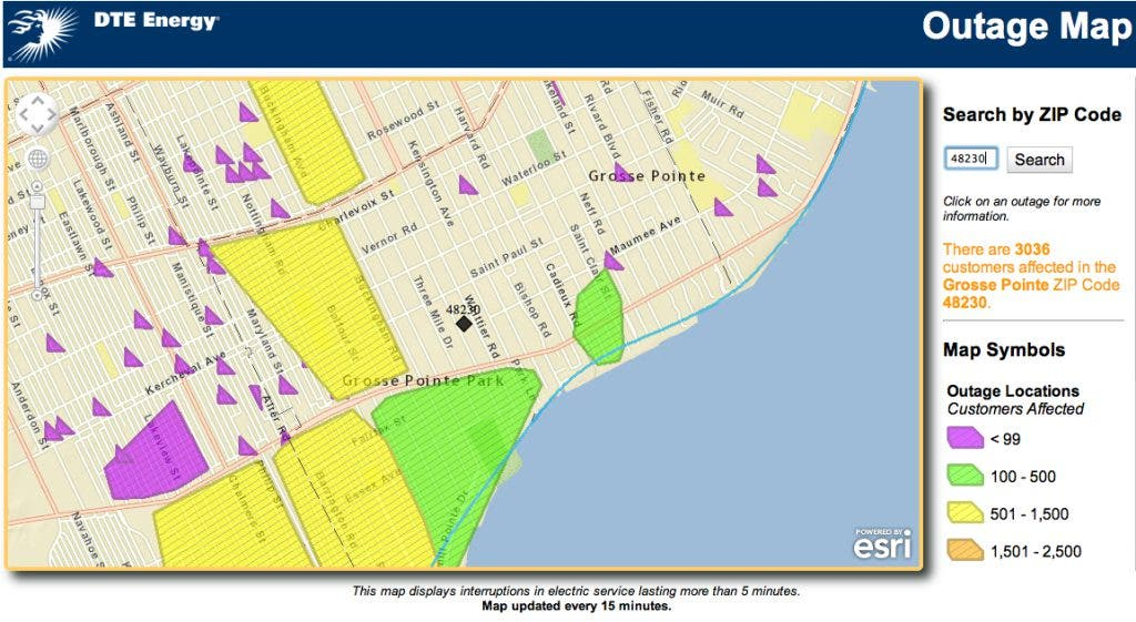 Power Outage Grows in Grosse Pointe Park | Grosse Pointe, MI ...