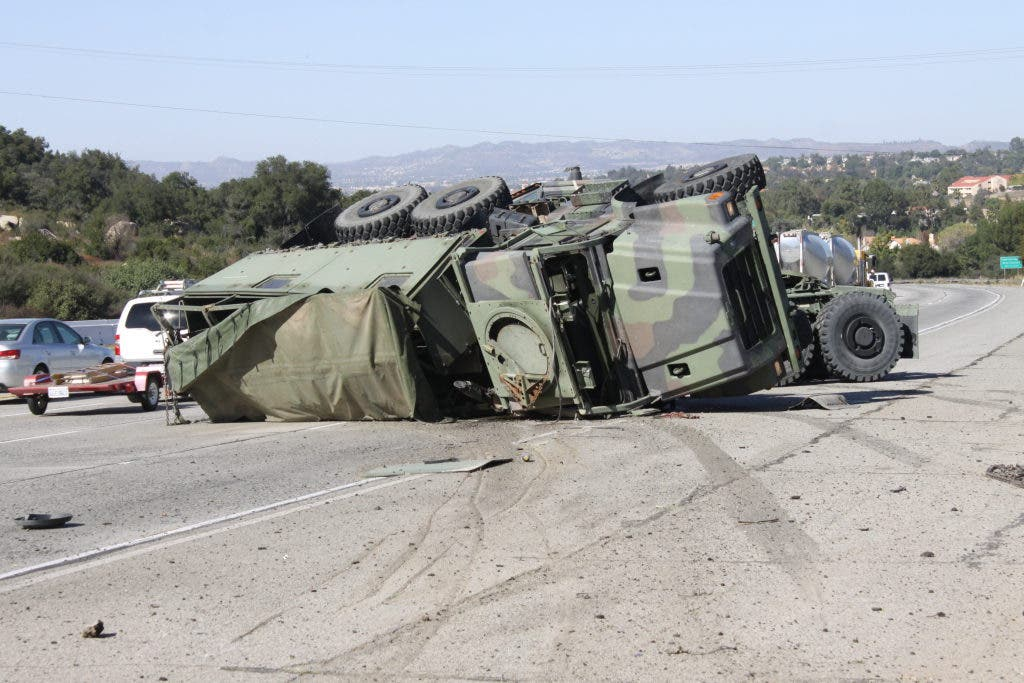 Military Convoy Crashes On I-15 | Lake Elsinore, CA Patch