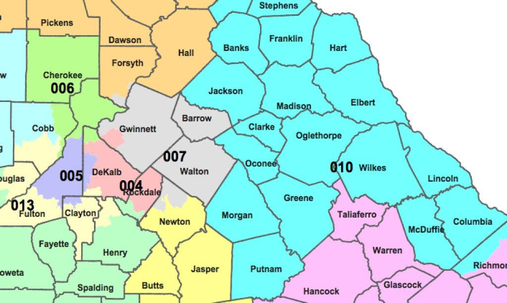 Proposed Congressional Map Places Dacula In 10th District