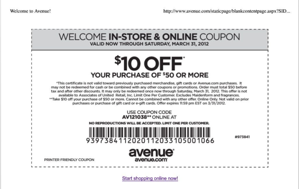 picture relating to Avenue Coupons in Store Printable identified as Printable Coupon codes for Outlet Merchants and $500 Searching Spree