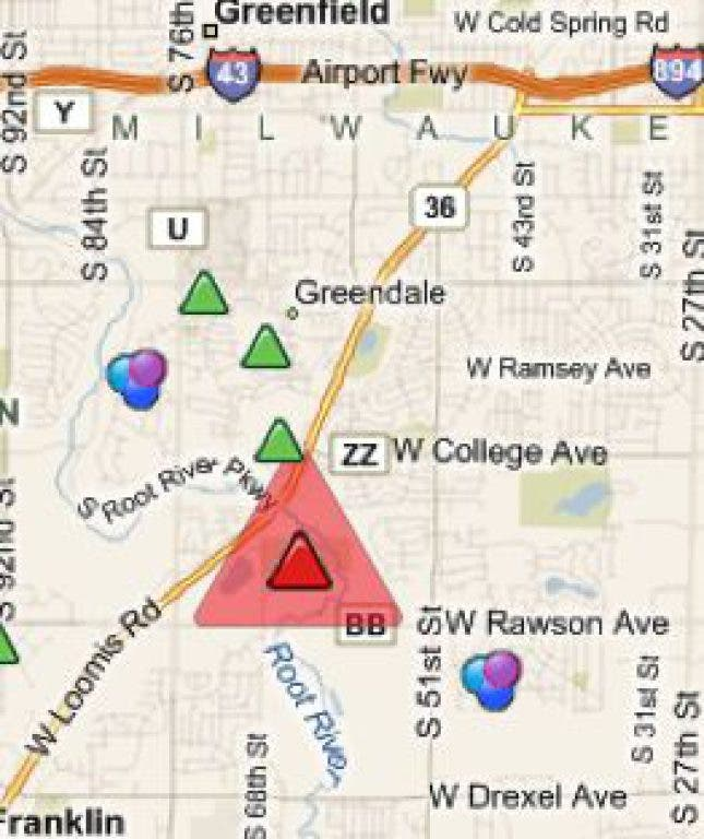 Over 1,000 Power Outages In Greendale During Storms
